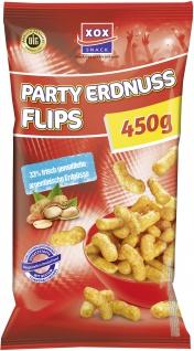 XOX Party Flips Erdnuss Style knuspriger Mais Erdnuss Snack 450g