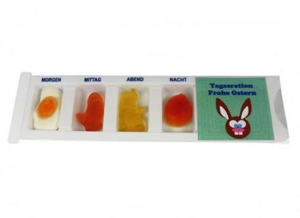 Tablettenbox Frohe Ostern Osterhase mit Fruchtgummi Scherzartikel 25g