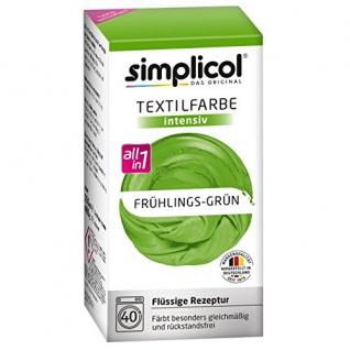 "Simplicol Textilfarbe intensiv all in 1 -Flüssige Rezeptur "" Frühlings-Grün"" Neu!"