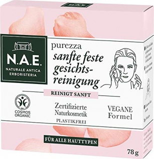 N.A.E. Purezza Sanfte Feste Gesichtsreinigung Vegane Formel 78g