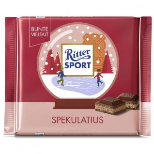 Ritter Sport Spekulatius winterlich würziger Keks in Creme Füllung 100g