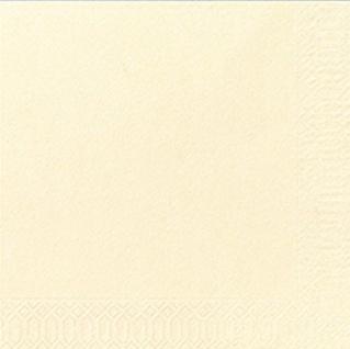 Duni Servietten 3 lagig Tissue Uni champagner Farbe 50 Stück