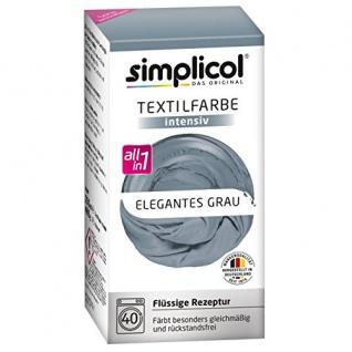 "Simplicol Textilfarbe intensiv all in 1 -Flüssige Rezeptur "" Elegantes Grau"" Neu!"
