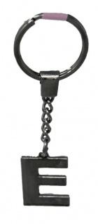 Schlüsselanhänger Taschenanhänger Buchstabenform E in silber