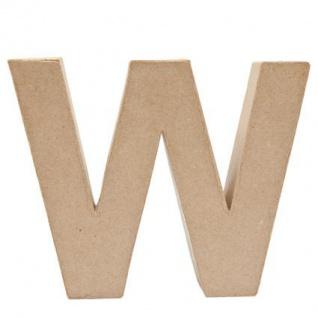 """Pappmache Buchstabe """" W"""" stehend zum basteln kreativ Rico Design Idee"""