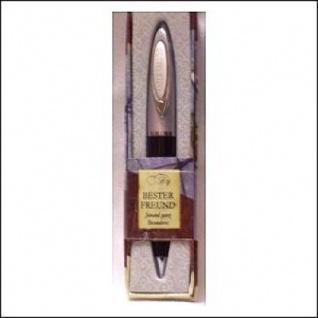 Kugelschreiber Clip mit Namensgravur Bester Freund im schicken Etui