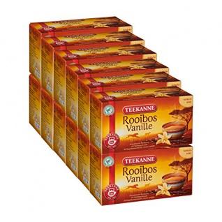 Teekanne Rooibos Vanille Tee aromatisiert mit Vanillearoma 12er Pack