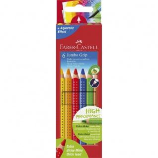Faber Castell Colour Pencils Buntstift Jumbo Grip 6er Kartonetui