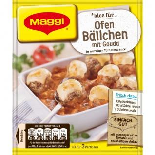 Maggi Fix für Ofen Bällchen mit Gouda in pikanter Tomatensauce 43g