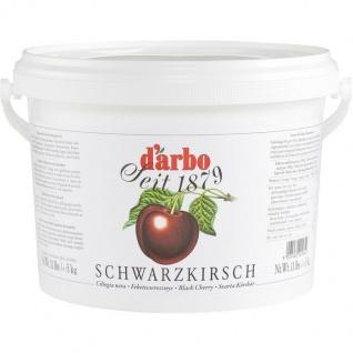 Darbo Schwarzkirsch Konfitüre Schwarzkirsch Fruchtaufstrich Eimer 2000g