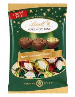 Lindt Nuss Mischung Kugeln Milchschokolade mit Füllungen 140g