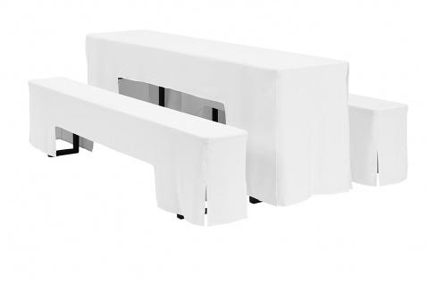 Hussen-Set Arcade für Festzeltgarnitur 100% Polyester 220x50cm