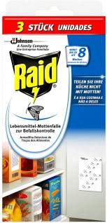 Raid Lebensmittel Mottenfalle Geruchslos 2 plus 1 2er Pack 62g