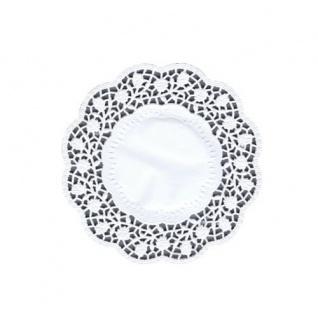 Teller und Tassendeckchen rund 15cm weiß von Papstar 100 Stück