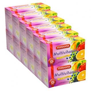 Teekanne Multivitamin mit 10 Vitaminen aus erlesenen Früchten 60g 12er Pack