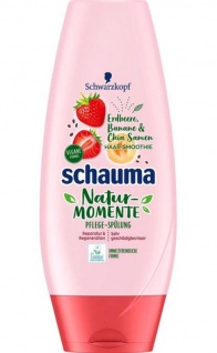 SCHAUMA Spülung Natur-Momente Haar-Smoothie Erdbeere, Banane & Chia Samen 250ml