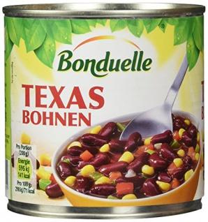 Bonduelle Gemüsemischung Texanische Art rote Bohnen 400g 12er Pack