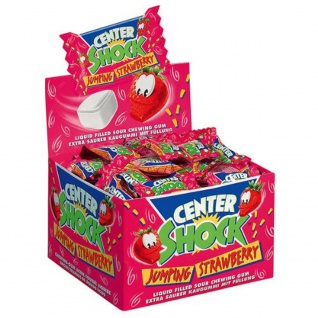 Center Shock Jumping Strawberry Kaugummi extra sauer 400g 3er Pack