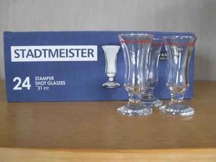 Stamper Stadtmeister Schnapsgläser mit Rotring 2cl 24 Gläser