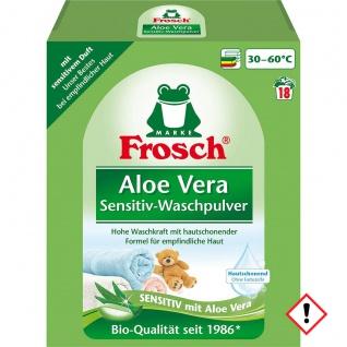 Frosch Aloe Vera Sensitiv Waschmittel 18 Waschladungen 1350g 2er Pack