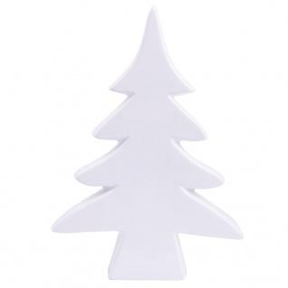 Tanne Porzellan Weihnachtsdekoration Farbe weiss hochglänzend 10cm