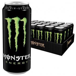 Monster Energy Drink Erfrischungsgetränk mit Koffein 500ml 24er Pack