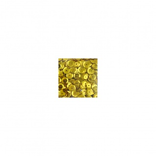 Meyco gewölbte spielzeug Pailletten in metallic gold 6mm 1400 Stück