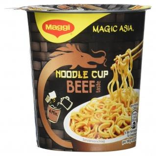 Maggi Magic Asia Noodle Cup Beef Snack mit Gemüsestückchen 63g