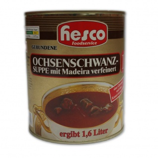 Hesco Ochsenschwanzsuppe Konzentrat 1 zu 1 extra viel Fleisch