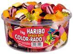 Haribo Color Rado Fun Mix Lakritz Konfekt und Fruchtgummi 1000g Box 5er Pack