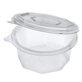 Papstar Einweg Verpackungsbecher mit Klappdeckel 375 ml 50 Stück