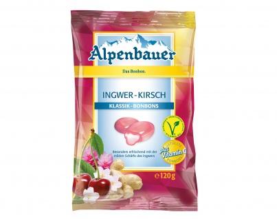 Alpenbauer Klassik Ingwer Kirsch Bonbons mit milder Schärfe 120g