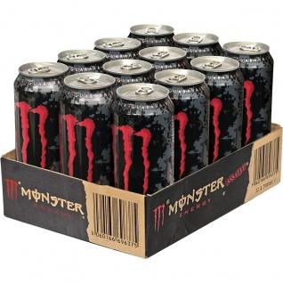 Monster Assault Erfrischungsgetränk mit Taurin Guarana 500ml 12er Pack