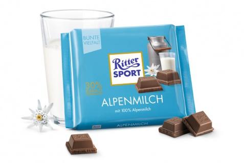 Ritter Sport Alpenmilch mit feiner Alpenmilch Schokolade 100g