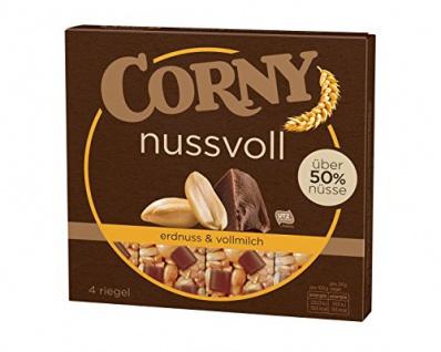 Corny Nussvoll Erdnuss und Vollmilch 4er, 6er Pack (6 x 96 g)