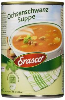 Erasco Ochsenschwanz Suppe mit Rotwein verfeinert 385ml 3er Pack