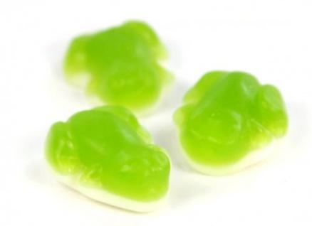 Fruchtgummi Grüner Frosch mit Schaumzuckerboden der Klassiker 1000g