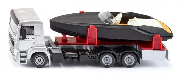 SIKU MAN LKW mit Motorboot