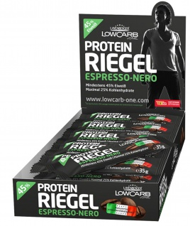 Layenberger Low Carb Riegel Espresso Nero mit Protein 35g 18er Pack