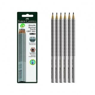 Faber Castell Graphite Pencils Bleistift Grip 2001 HB 6er Set