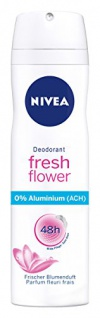 Nivea Deo Fresh Flower Spray, ohne Aluminium, 6er Pack (6 x 150 ml)