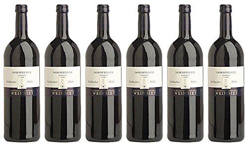 Weinbiet Mußbacher Dornfelder Rotwein trocken mit Kräuternote 1000ml 6er Pack