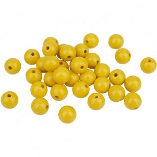 Meyco 30 Holzperlen 12mm in gelb schweiß und speichelfest Buchholz
