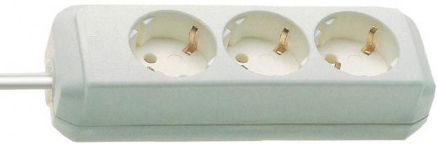 Brennenstuhl Eco Line Steckdosenleiste 3 fach weiß ohne Schalter
