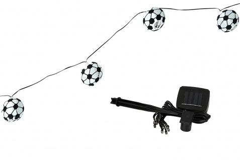 Fuball-Lichterkette solarbetriebene Partylichterkette warmweiss