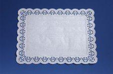 100 Spitzenpapiere eckig 46 cm x 36 cm weiss