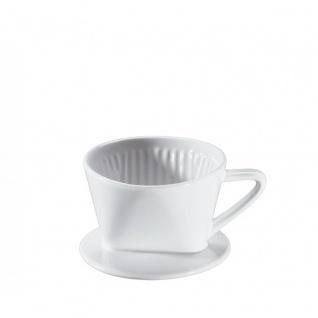 Kaffeefilter aus robuster weiß glasiert geschmacksneutral Keramik
