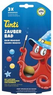 Tinti Zauberbad färbt sprudelnd das Wasser Badespaß 3 Stück 120g