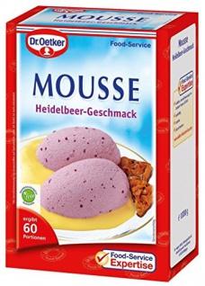 Dr. Oetker Mousse Heidelbeer-Geschmack 1 kg, 1er Pack (1 x 1 kg)