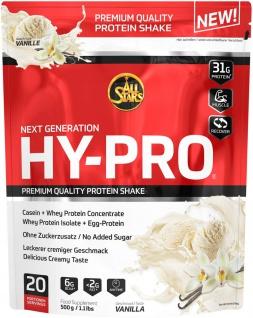 AllStars Hy Pro Vanille Protein Shakes Nahrungsergänzungsmittel 500g